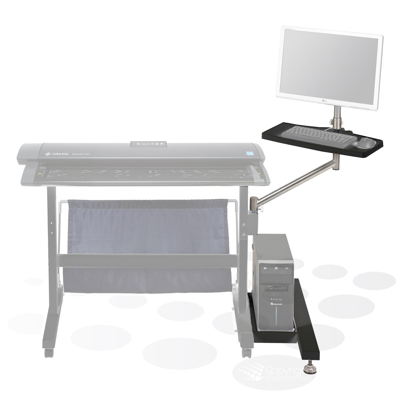 Colortrac PC-, Monitor- und Tastaturhalter für Standard Gestell SCi/SGi 25/36/42